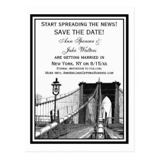 Cartão Postal A ponte de Brooklyn #2 da skyline de NYC salvar a