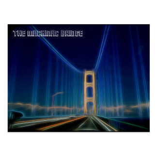 Cartão Postal A ponte de Mackinac