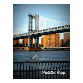 Cartão Postal A ponte de Manhattan