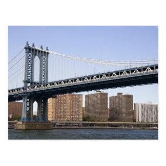 Cartão Postal A ponte de Manhattan que mede o East River