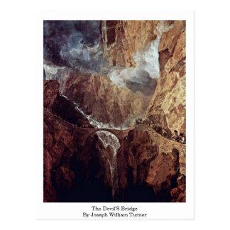 Cartão Postal A ponte dos diabos por Joseph William Turner