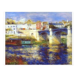 Cartão Postal A ponte no chatou por Pierre-Auguste Renoir