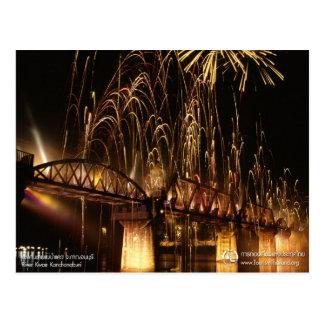 Cartão Postal A ponte sobre o rio Kwai (opinião da noite)