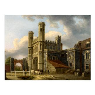 Cartão Postal A porta Canterbury Inglaterra de St Augustine