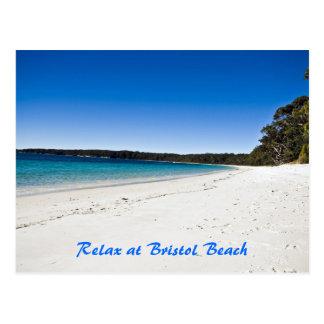 Cartão Postal A praia 1 de Bristol, relaxa na praia de Bristol