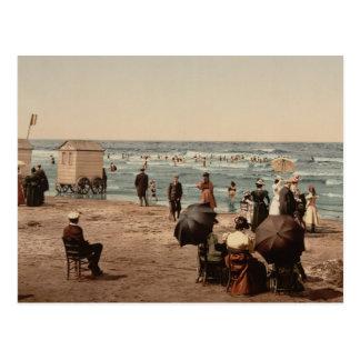 Cartão Postal A praia, Blankenberghe, Bélgica