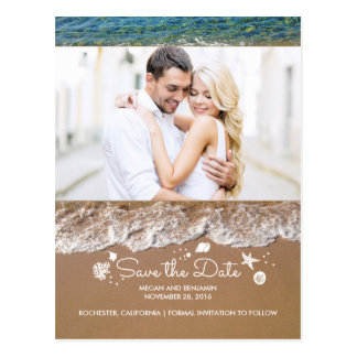Cartão Postal A praia e a foto dos tesouros do oceano salvar a