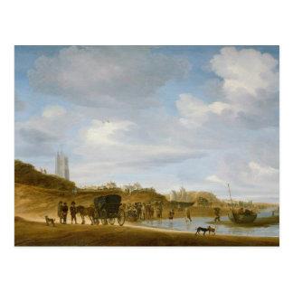 Cartão Postal A praia em Egmond-an-Zee