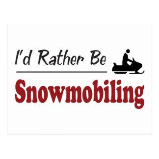 Cartão Postal A preferencialmente Snowmobiling
