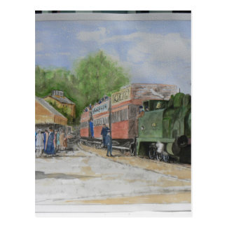 Cartão Postal A primeira estrada de ferro do mundo