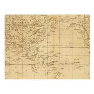 Cartão Postal A projeção de Mercator do mundo