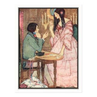 Cartão Postal A rainha dos corações por Florença Harrison