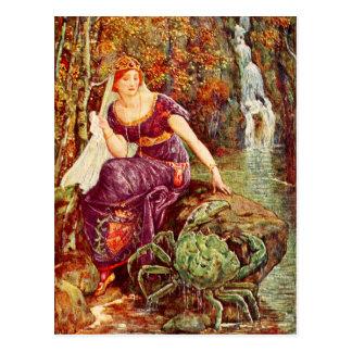 Cartão Postal A rainha e o caranguejo