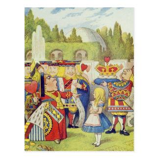 """Cartão Postal A rainha veio! E não é irritada. """""""