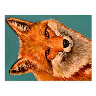 Cartão Postal A raposa considerável