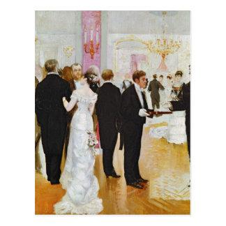 Cartão Postal A recepção de casamento, c.1900
