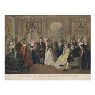 Cartão Postal A recepção de Franklin na corte de France
