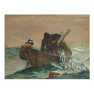Cartão Postal A rede dos arenques, 1885 (óleo em canvas)