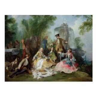 Cartão Postal A refeição do partido da caça, C. 1737