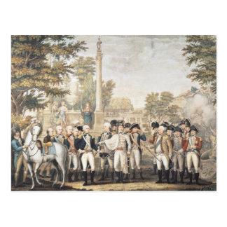 Cartão Postal A rendição britânica ao general Washington