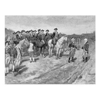 Cartão Postal A rendição de Cornwallis em Yorktown