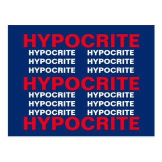 Cartão Postal A resistência azul branca vermelha da hipócrita
