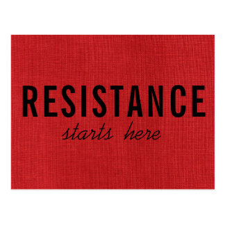 Cartão Postal A resistência começa aqui na foto de linho