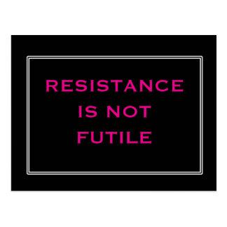 Cartão Postal A resistência não é preta e cor-de-rosa inúteis