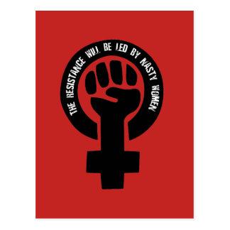 Cartão Postal A resistência será conduzida por mulheres