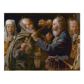Cartão Postal A rixa dos mendigos, c.1625-30 (óleo em canvas)