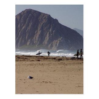 Cartão Postal A rocha de Morro encalha surfistas