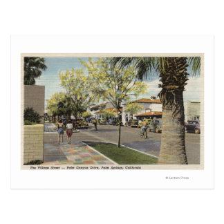 Cartão Postal A rua da vila, movimentação da garganta da palma