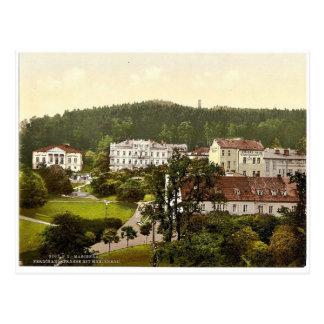 Cartão Postal A rua de Ferdinand, Marienbad, Boémia, Austro-Huno