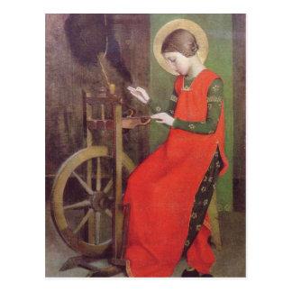 Cartão Postal A rua Elizabeth de Hungria por Marianne Stokes