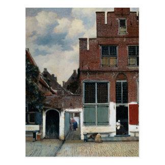 Cartão Postal A rua pequena por Johannes Vermeer