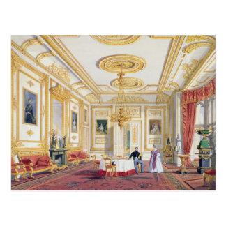 Cartão Postal A sala de estar branca no castelo de Windsor (cor