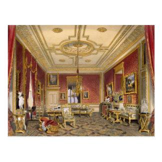 Cartão Postal A sala de estar privada da rainha, castelo de