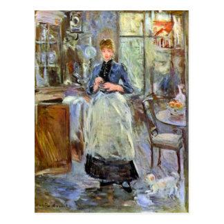 Cartão Postal A sala de jantar por Berthe Morisot