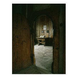 Cartão Postal A sala de Luther no castelo de Wartburg