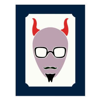 Cartão Postal A satã é um hipster
