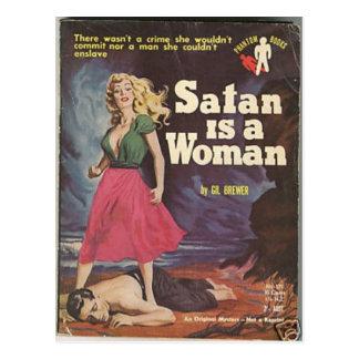 Cartão Postal a satã é uma mulher!
