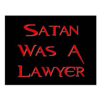 Cartão Postal A satã era um advogado