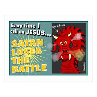 Cartão Postal A satã perde o presente do cristão da batalha