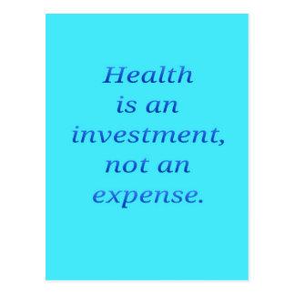 Cartão Postal A saúde é um investimento…