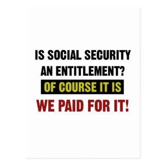 Cartão Postal A segurança social é um direito, nós pagou por ele