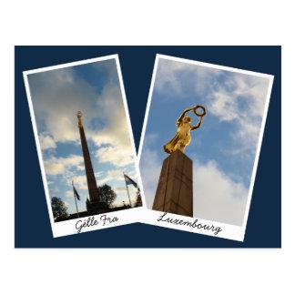 Cartão Postal A senhora dourada de Luxembourg