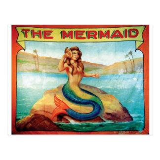 Cartão Postal A sereia