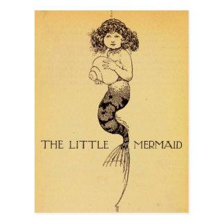 Cartão Postal A sereia pequena