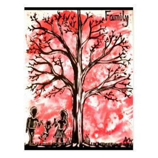 Cartão Postal A série da árvore: Família