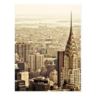 Cartão Postal A skyline da Nova Iorque & a construção de